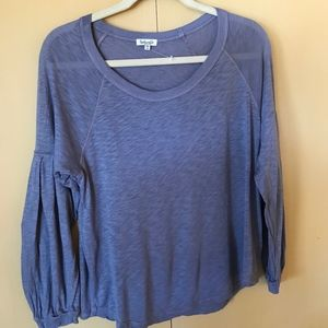 Splendid top with bloused sleeves - NWOT